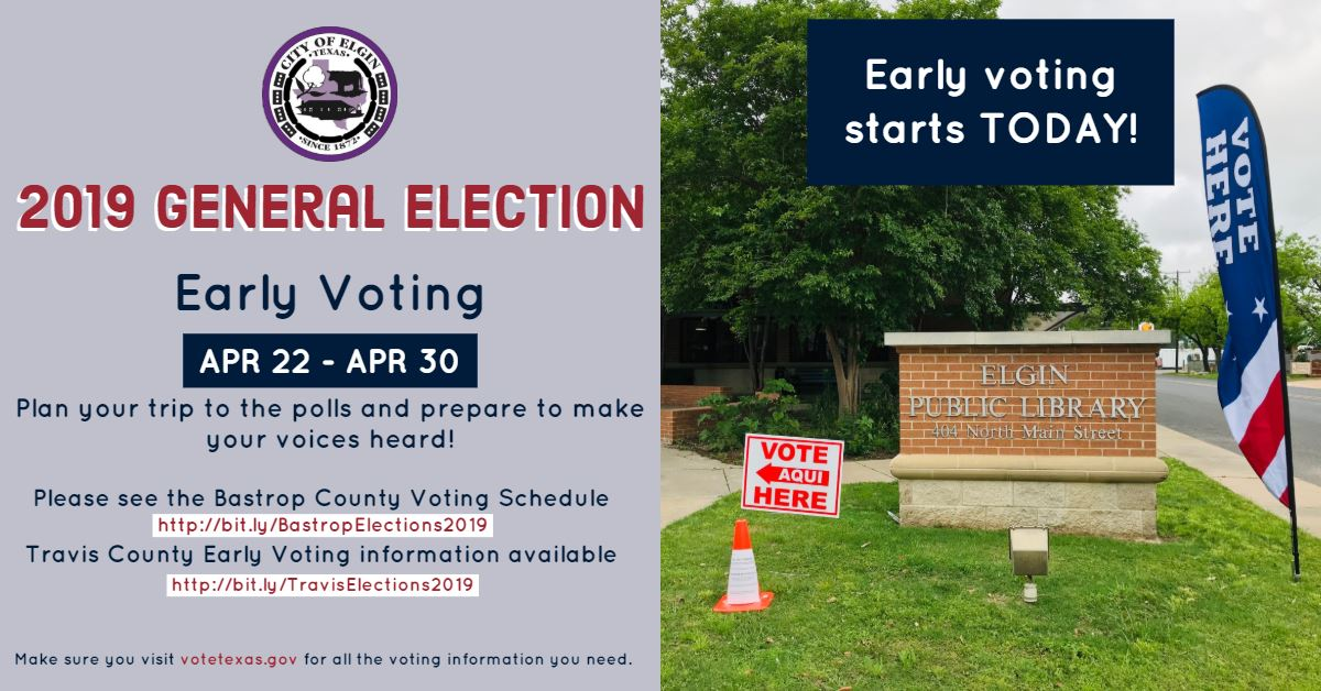Early Voting Starts Today