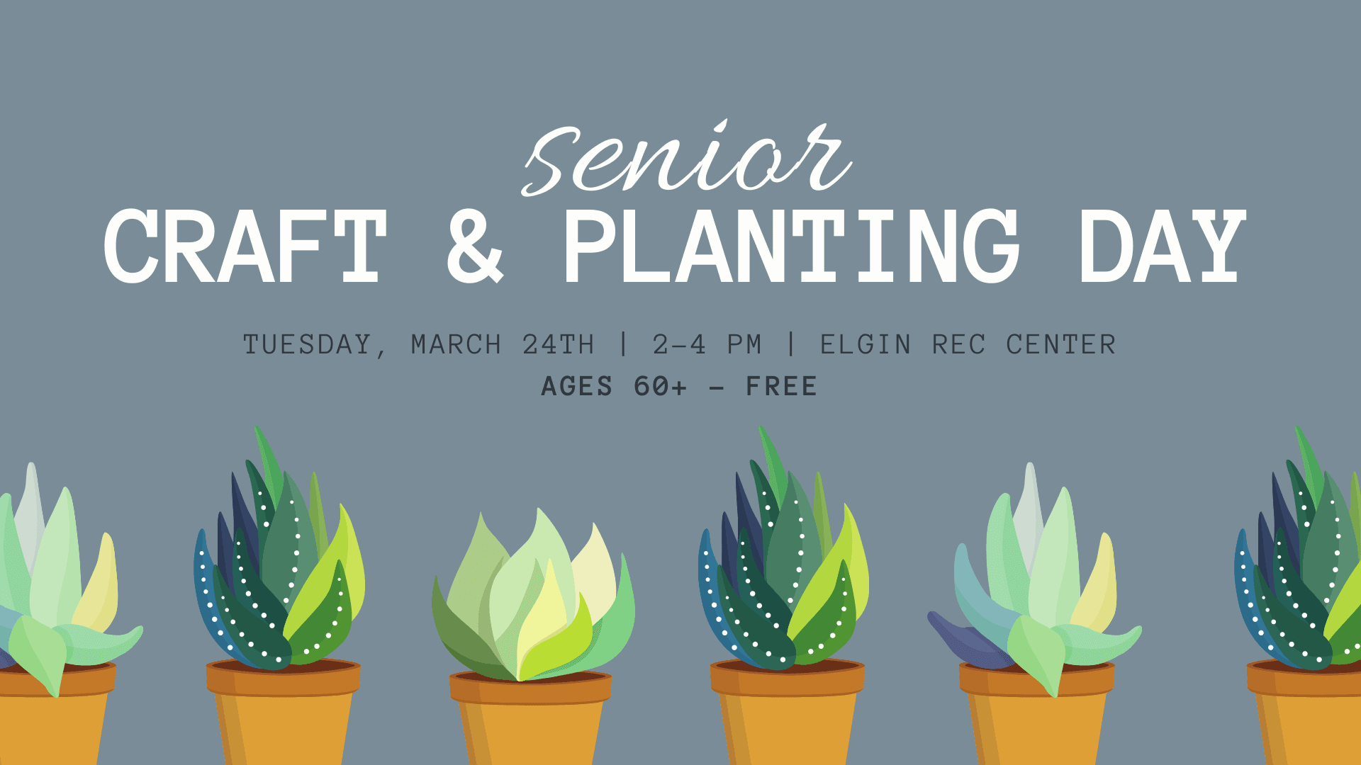 craft and planting day flyer